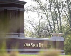 Iowa State University sign