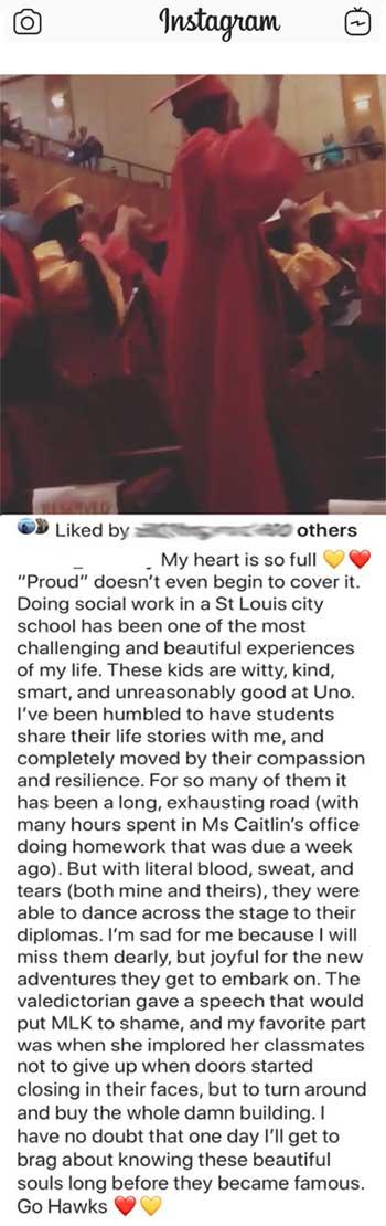 instagram graduation post